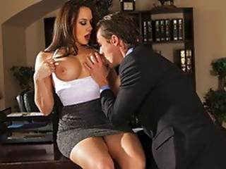 Amazing Big Tits  Office Pornstar Secretary Skirt