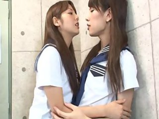 Asian Japanese Lesbian Student Teen Uniform