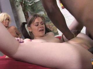 Daughter Hardcore Interracial Mom Old and Young Teen Threesome