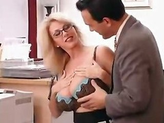 Big Titted Mom With Her Boss