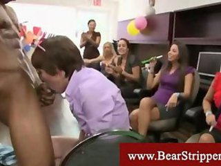 Blowjob CFNM Interracial MILF Party