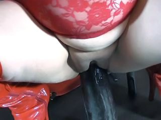 Dildo Masturbating Shaved Toy