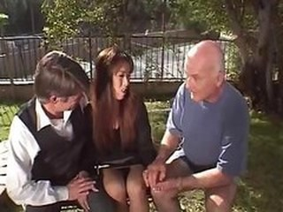 Asian Cuckold Daddy Interracial  Outdoor Wife