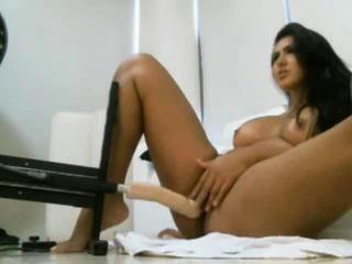 "Latina Using Fuck Machine On Cam"" class=""th-mov"