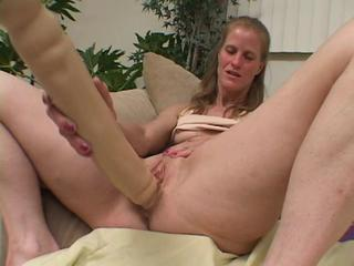 Clit Dildo Masturbating Mature Toy