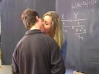 Kissing School Teacher