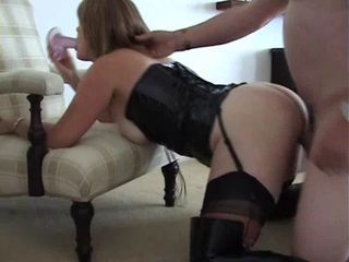 Amateur Corset Doggystyle Homemade Latex Wife