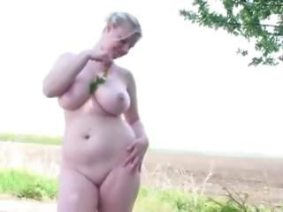 Amateur Big Tits Chubby Erotic  Natural Nudist Outdoor