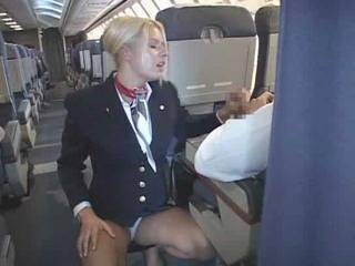 Blonde Flight Attendant And A...