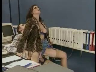 Clothed Glasses Mature Mom Office Old and Young Riding Secretary Stockings