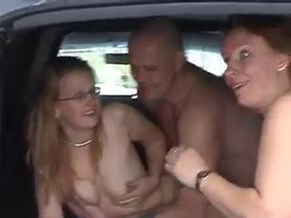 Amateur Car Glasses  Threesome