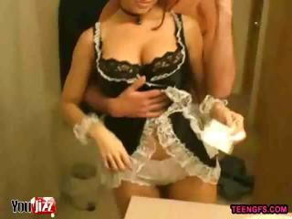 Amateur Girlfriend Maid Uniform