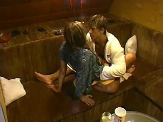 Big Brother Czech Oral sex in sauna - xHamster.com