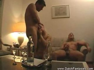 Dutch Fantasy Come To Life _: bbw cuckold cumshots interracial