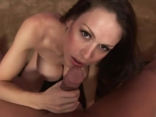 Great busted MILF Dianna Doll munches onto the hard thang