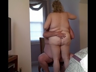 my bbw wife fucks me on a strong chair, we consent together