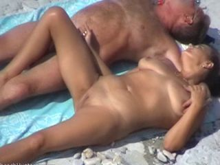 another nice mature couple greater than someone's skin beach