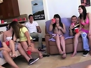 teenie girls enjoying swingers action
