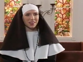 Sinner Nun Mia Davis Gangbanged By Five Priests inside Church