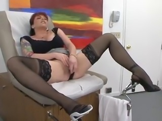 Masturbating  Mom Stockings Tattoo
