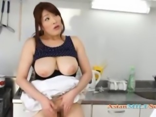 Asian Big Tits Japanese Kitchen  Mom Natural