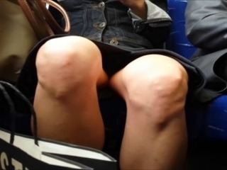 Unfold legged upskirt on familiarize