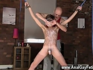 Hot gay Twink boy Jacob Daniels is his latest meal, trussed