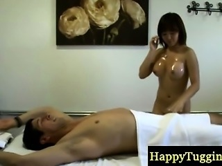 Asian Babe Interracial Massage Oiled
