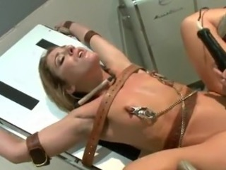 Imprisoned Blonde has bound Up And bumped By the Doctor