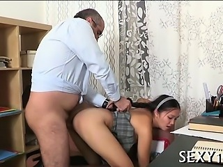 Daddy Doggystyle Old and Young Student Teacher Teen