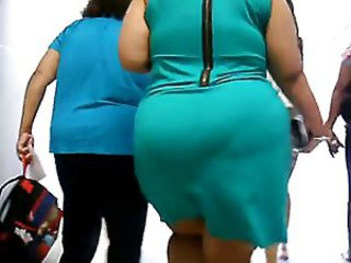 big ass in green dress vpl