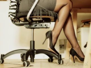LONG Hooves and Fingertips and HIGH HEELS OFFICE Chick