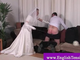 Bride Getting Rough With Her Husband