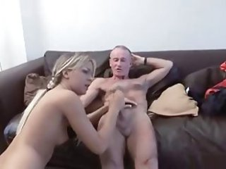Amateur British Daddy Daughter European Handjob Old and Young