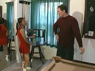 Asian Cheerleader Daddy Interracial Old and Young Teen Uniform