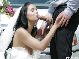 Babe Blowjob Bride Brunette Clothed