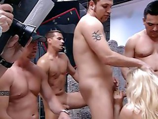 Flick Shagwell and Kinky gangbang - part 1