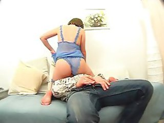 Facesitting Lingerie  Mom Old and Young Russian