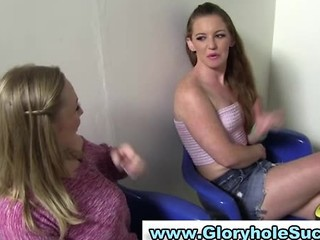 Two Hot Gloryhole Sluts