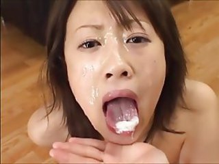 Asian Bukkake Cumshot Swallow