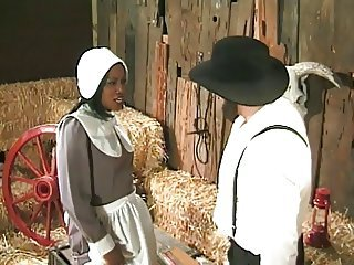 Ebony Farm Interracial Maid  Uniform Vintage
