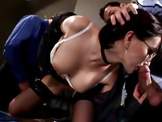 Young Private Secretaries Office Sex Party
