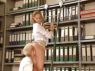 Clothed Licking Office Teen