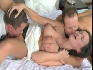Daddy Family Licking  Mom Natural Old and Young Threesome