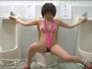 Asian Bondage Fetish Toilet