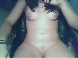 french brunette shows shaved pussy on cam - by GranDBastard