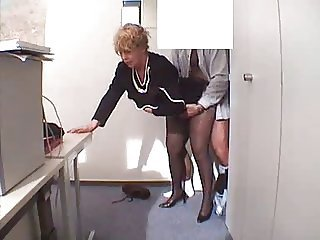 Clothed Doggystyle Mature Office Secretary Stockings