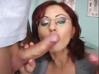 Teacher takes two in classroom. DP and anal.