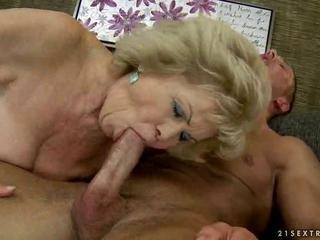 Ugly busty granny riding young cock by reno78