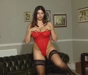 Kerry Marie in Red Bodysuit